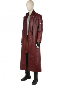 Guardians Of The Galaxy Vol 2 Star-Lord Peter Jason Quill Red Long Windbreaker Suit Halloween Cosplay Costume Red Long Windbreaker