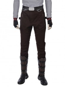 Guardians Of The Galaxy Vol 2 Star-Lord Peter Jason Quill Red Long Windbreaker Suit Halloween Cosplay Costume Brown Pants