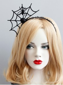 Black Spider Web Halloween Funny Ghost Festival Carnival Festival Gothic Headband