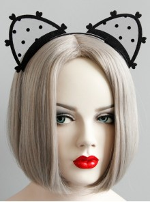 Lolita Lace Cat Ears Cute Halloween Prom Party Female Headband