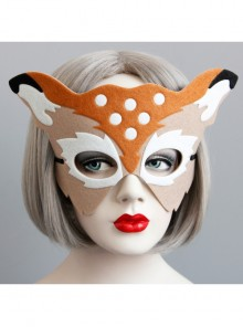 Christmas Prom Party Half Face Deer Mask Felt Cloth Male Female Child Adult Decoration