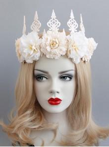 Fashion White Adult Child Princess Crown Bride Wedding Dress Garland Christmas Prom Headband