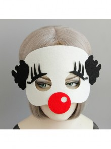 Funny Clown Halloween Christmas Adult Show Felt Cloth Mask
