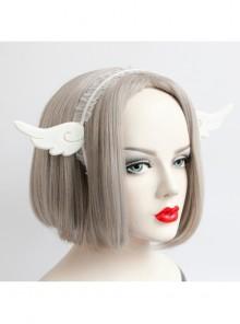 Lolita Fashion Cute Angel Wings White Lace Female Hair Band