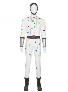 Suicide Squad Polka Dot Man Halloween Cosplay Costume Full Set Without Shoes
