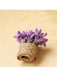 Purple Lavender Twine Handmade Personality Cute Christmas Retro Small Brooch Buckle