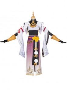 Genshin Impact Kujo Sara Halloween Game Cosplay Costume Full Set