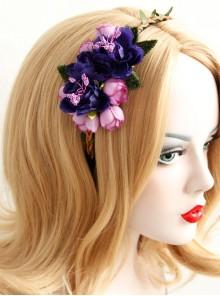 Fashion Christmas Flowers Leaves Female Long Hair Short Hair Garland Rattan Headband