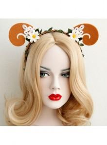 Leisure Halloween Christmas White Flowers Rattan Orange Shofar Animals Holiday Travel Headband