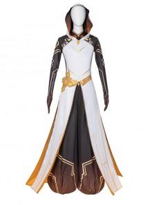 Genshin Impact Morax Zhongli Divine Costume Halloween Game Cosplay Costume Full Set