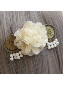 Fashion White Flowers Pearl Handmade Classical Hairpin