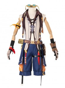 Genshin Impact Bennett Halloween Game Cosplay Costume Full Set Without Glasses