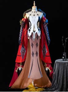 Genshin Impact La Signora Rosalyne-Kruzchka Lohefalter Halloween Game Cosplay Costume Full Set Without Tattoo Stickers