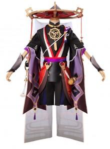Genshin Impact Fatui Sixth Seat Executive Officer Scaramouche Halloween Game Cosplay Costume Full Set