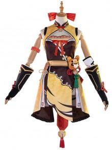Genshin Impact Xiangling Halloween Game Cosplay Costume Full Set