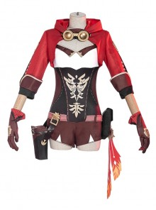 Genshin Impact Amber Bunny Earl Detect Knight Halloween Game Cosplay Costume Full Set