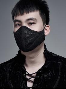 Men Front Three-Dimensional Webbing Black Gothic Mask