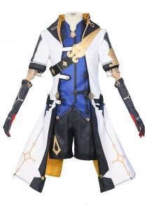 Genshin Impact Albedo Halloween Game Cosplay Costume Full Set