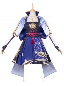 Genshin Impact Kamisato Ayaka Halloween Game Cosplay Costume Full Set