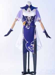 Genshin Impact Mondstadt Librarian Lisa Halloween Game Cosplay Costume Full Set