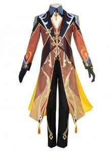 Genshin Impact Morax Zhongli Halloween Game Cosplay Costume Full Set