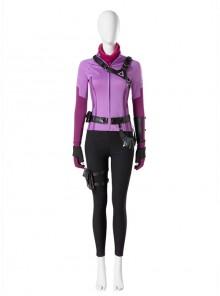 TV Drama Hawkeye Kate Bishop Purple Top Suit Style 2 Halloween Cosplay Costume Set