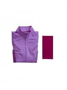 TV Drama Hawkeye Kate Bishop Purple Top Suit Style 2 Halloween Cosplay Costume Purple Top And Scarf