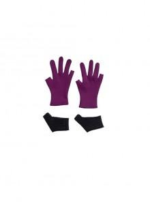 TV Drama Hawkeye Kate Bishop Purple Top Suit Style 2 Halloween Cosplay Accessories Purple Gloves And Black Handguards