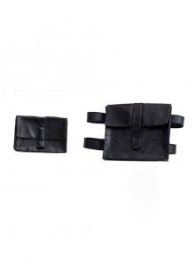 TV Drama Hawkeye Kate Bishop Purple Top Suit Style 2 Halloween Cosplay Accessories Black Waist Bag And Leg Bag