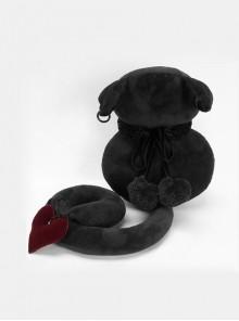 Gothic Faceless Black Cat Toy