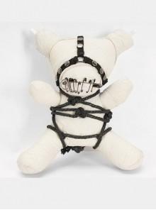 Gothic Taboo White Bear Chain Bag