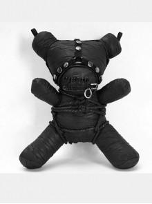 Gothic Taboo Black Bear Chain Bag