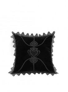 Gothic Black Decal Velvet Square Cushion Pillow Cover Sleeve