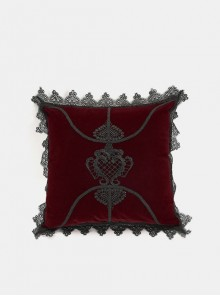 Gothic Red Decal Velvet Cushion Pillow Cover Sleeve