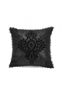 Gothic Black Decal Ornate Hold Square Pillow Cushion