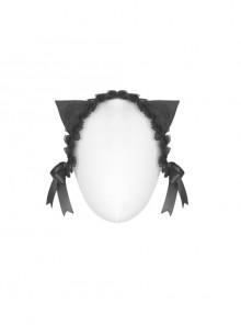 Gothic Black Lace Cute Cat Ears Bowknot Headwear