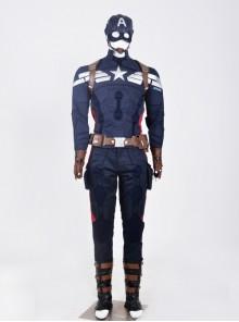 American Captain 2 Steve Rogers Men Cosplay Full Set Costume