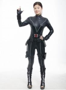 The Avengers 1 Black Widow Slim Jumpsuit Female Full Set Cosplay Costume