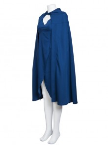 Game Of Thrones Dragon Mother Daenerys Targaryen Cosplay Costume Blue Hooded Cloak