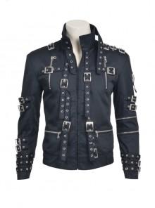 Michael Jackson Cosplay Costume Black Uniform Cloth Jacket