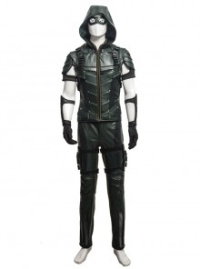 Arrow Season 4 Oliver Leather Clothing Upgraded Version Cosplay Costume Full Set Without Shoes