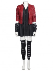 Avengers 2 Scarlet Witch Cosplay Costume Red Short Jacket Full Set