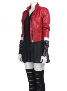 Avengers 2 Scarlet Witch Red Short Jacket Halloween Cosplay