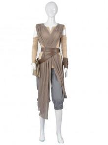 Star Wars The Force Awakens Rey Skywalker Cosplay Jedi Knight Costume Full Set