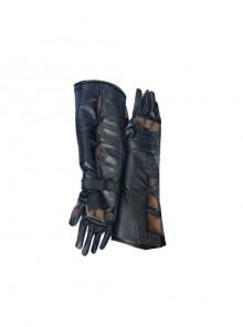 Batman v Superman Dawn of Justice Batman Halloween Cosplay Black Long Gloves