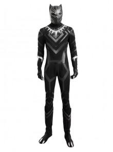 Captain America Civil War Black Panther Halloween Cosplay Costume Full Set