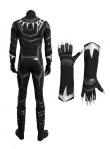Captain America Civil War Black Panther Halloween Cosplay Bodysuit And Gloves