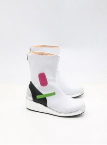 Overwatch D.VA Halloween Cosplay White High Heel Boots