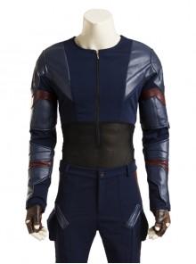 Captain America Civil War Captain America Cosplay Upgraded Version Costume Base Top