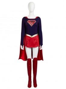 Supergirl Kara Zor-El Halloween Cosplay Costume Full Set